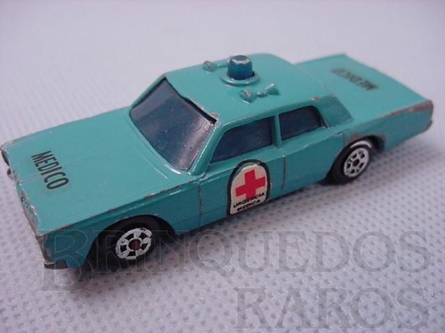 Brinquedo antigo Cruiser Médico Muky Superveloz cópia do Police Cruiser lançado pela Hot Wheels em 1969 Década de 1970
