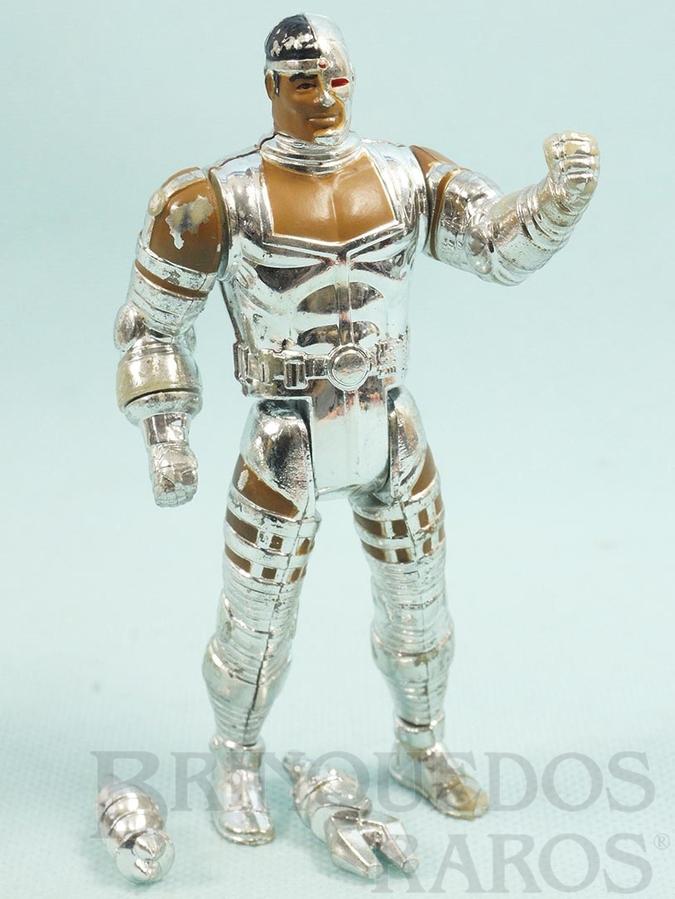 Brinquedo antigo Cyborg articulado completo Coleção Super Powers Ano 1988