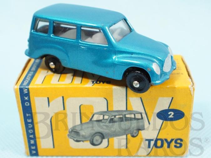 Brinquedo antigo DKW Vemag Vemaguete com 6,00 cm de comprimento Azul metálico Década de 1960