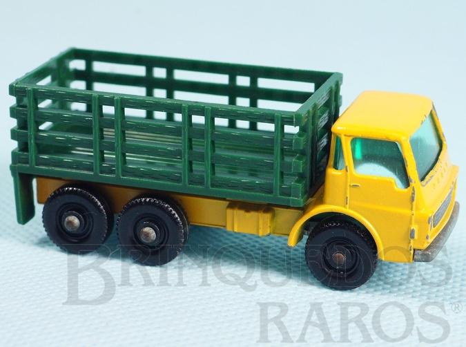 Brinquedo antigo Dodge Stake Truck black plastic Regular Wheels