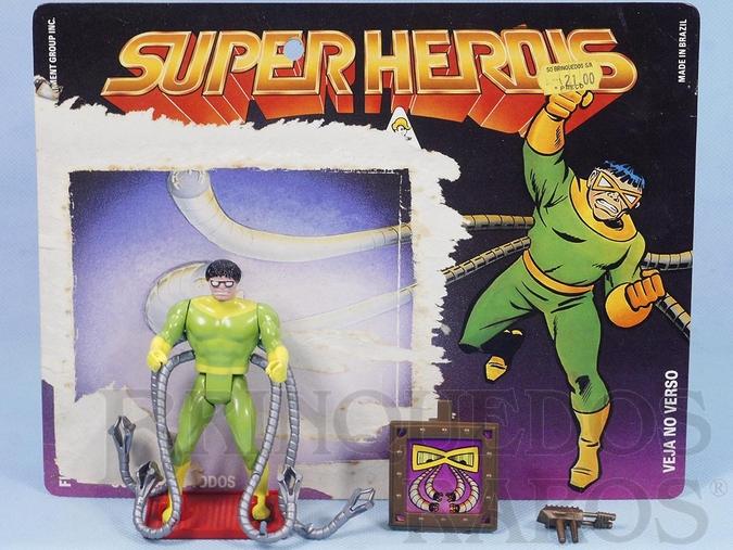 Brinquedo antigo Dr. Octopus Série Secret Wars perfeito estado Completo com Escudo e Arma acompanha Cartela Original Ano 1989