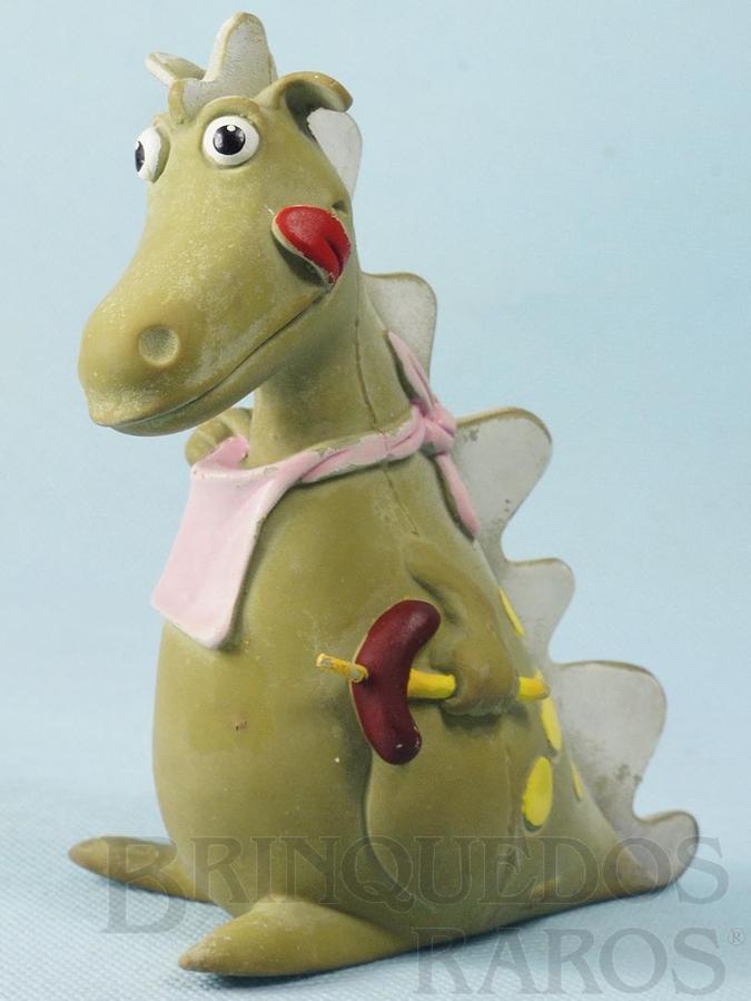 Brinquedo antigo Dragão com apito 13,50 cm de altura Década de 1980