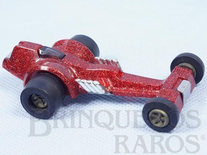 Brinquedo antigo Dragster Strip Whip com 8,5 cm de comprimento Série Tonka Tote Carroceria de plástico metalizado Década de 1970