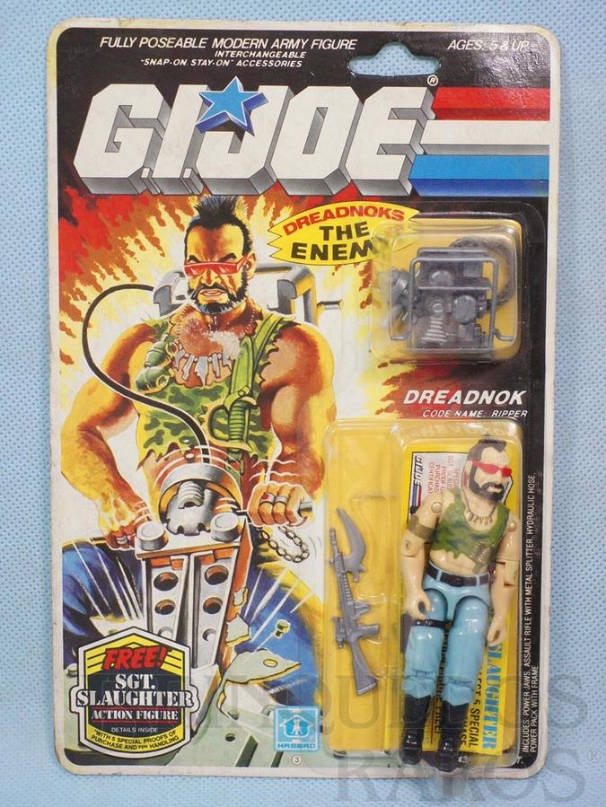 Brinquedo antigo Dreadnok Ripper completo Blister lacrado Ano 1984