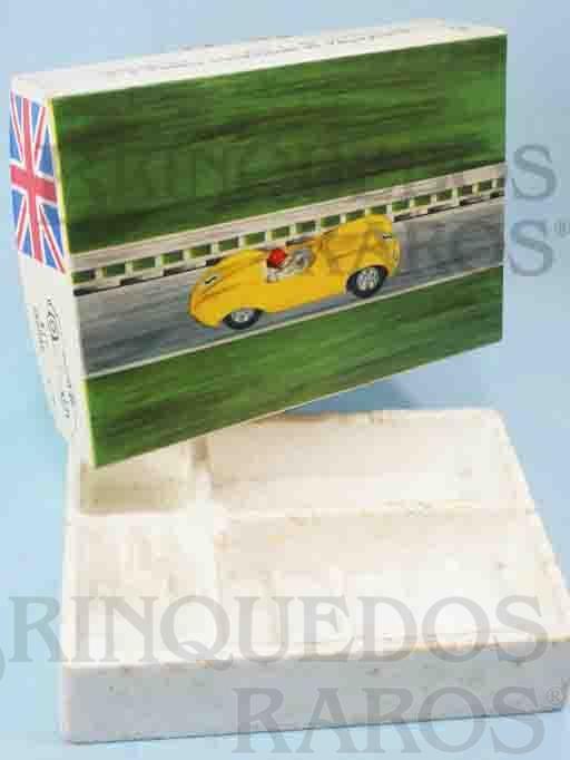 Brinquedo antigo Caixa 100% Original do Kit de Montar Jaguar de Autorama Escala 1:32 Base de isopor e tampa de papelão revestido Ano 1966
