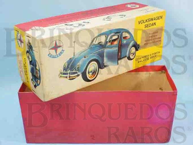 Brinquedo antigo Estrela Caixa Volkswagen Sedan Ano 1965