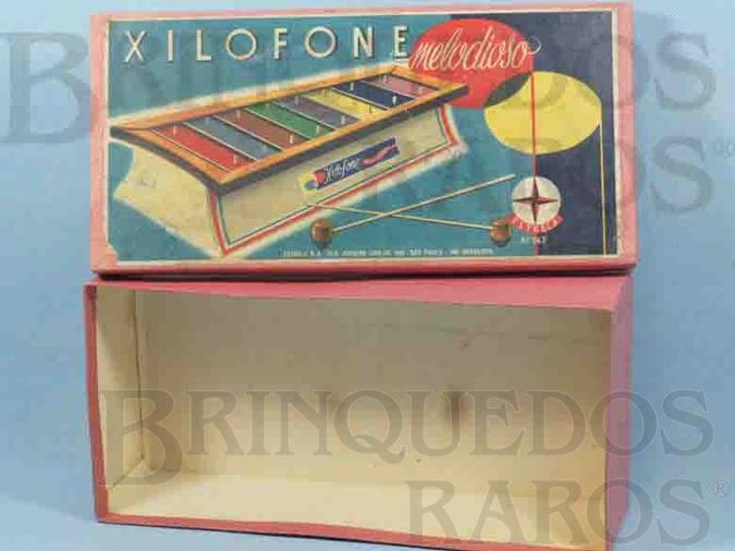 Brinquedo antigo Estrela Caixa Xilofone Melodioso Ano 1959