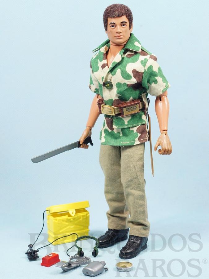 Brinquedo antigo Falcon Aventura Luta Selvagem Sobrevivendo no Inferno Verde completo com 12 Itens mais par de botas Edição 1977 Preço sem o Boneco