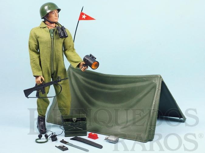 Brinquedo antigo Falcon Aventura Posto de Comando  Acampamento do Front 100% original completo com Barraca e mais 12 itens Edição 1978 Preço sem o Boneco