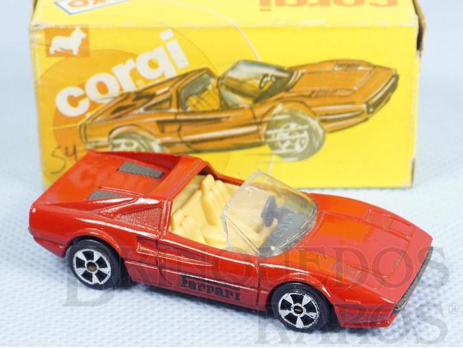 Brinquedo antigo Ferrari 308 GTS Brazilian Corgi Jr Kiko Década de 1980