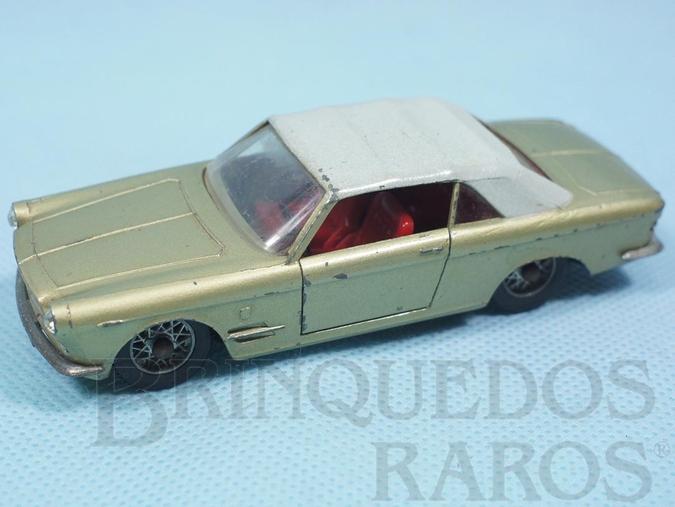 Brinquedo antigo Fiat 2300/S Cabriolet Ghia verde claro metálico com capota branca Fabricado pela Brosol Solido brésilienne Datada 3-1964
