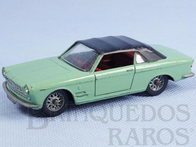 Brinquedo antigo Fiat 2300/S Cabriolet Ghia verde claro com capota preta Fabricado pela Brosol Solido brésilienne Datada 3-1964