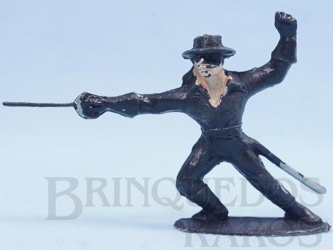 Brinquedo antigo Figura do Zorro de pé com espada Série O Zorro distribuído pela Trol Década de 1970