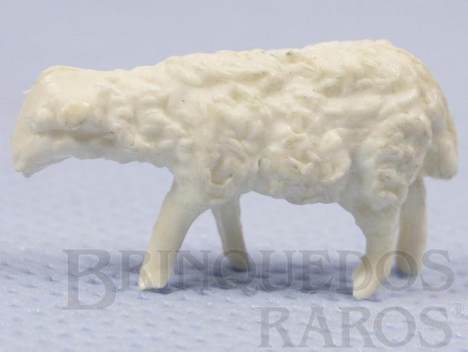 Brinquedo antigo Filhote de ovelha Série Fazenda Chaparral Década de 1970