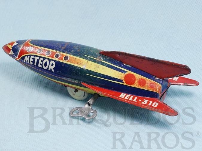 Brinquedo antigo Foguete Meteor com 19,00 cm de comprimento