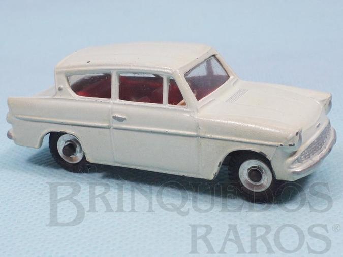 Brinquedo antigo Ford Anglia branco Década de 1950
