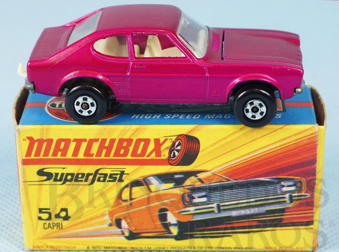 Brinquedo antigo Ford Capri Superfast vermelho metálico