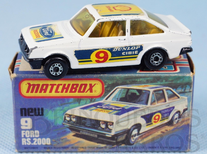 Brinquedo antigo Ford Escort RS 2000 Superfast