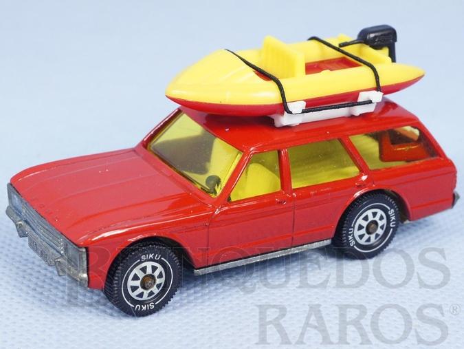 Brinquedo antigo Ford Granada Turnier vermelho com Bote à motor Brasilianische Siku Alfema