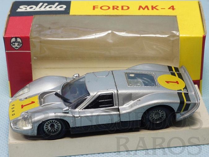 Brinquedo antigo Ford Mark IV Le Mans prata Fabricado pela Brosol Solido brésilienne Datado 2-1969