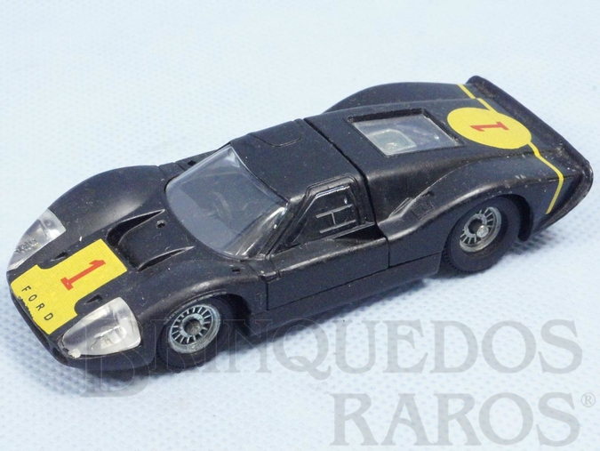 Brinquedo antigo Ford Mark IV Le Mans preto Fabricado pela Brosol Solido brésilienne Datado 2-1969