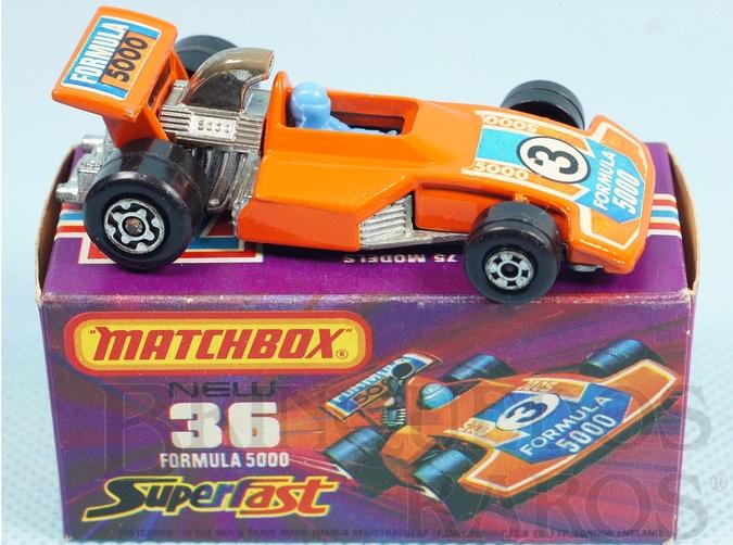 Brinquedo antigo Formula 5000 Superfast laranja