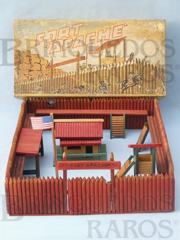 Brinquedo antigo Fort Apache Forte Apache completo Sem figuras Década de 1960