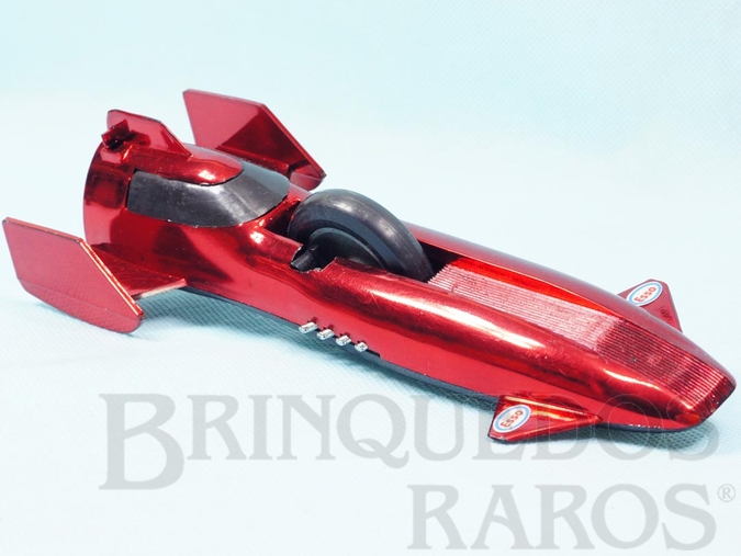 Brinquedo antigo Furacão vermelho metalizado Série Super Sônica com som e faíscas Ano 1976
