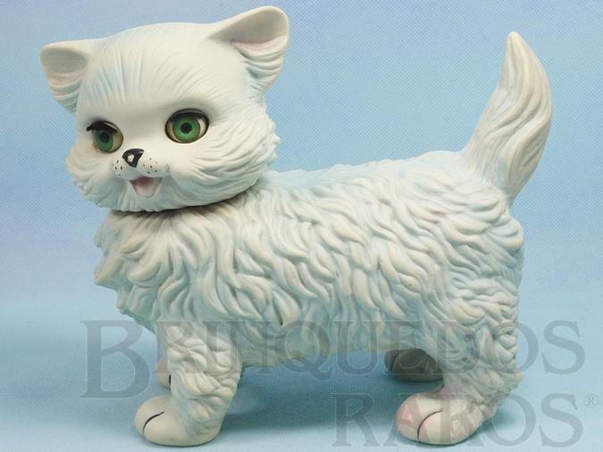 Brinquedo antigo Gato Frou Frou com 20,00 cm de altura Olhos de dormir e apito Ano 1963