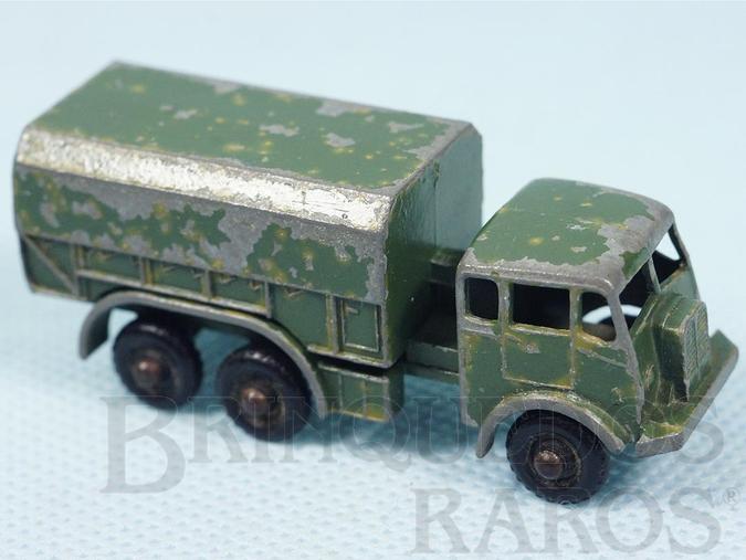 Brinquedo antigo General Service Lorry Black Plastic Regular Wheels