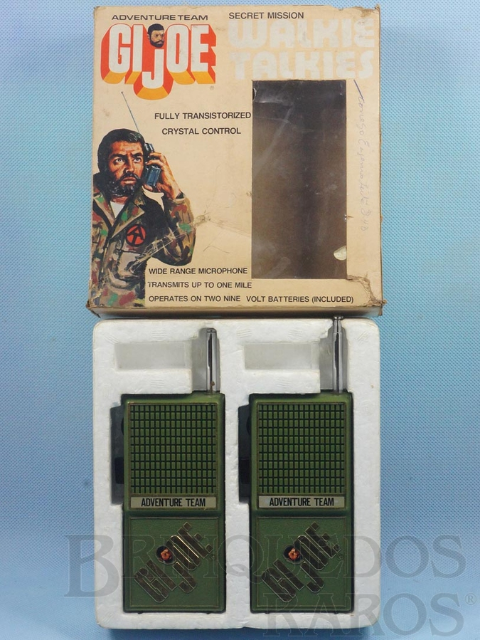 Brinquedo antigo G.I.Joe Walkie Talkies Série Adventure Team  Década de 1970