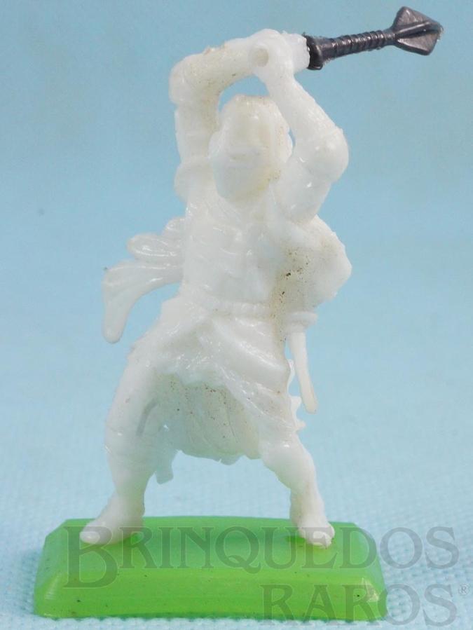 Brinquedo antigo Guerreiro medieval com Clava Cópia Britains Série Rei Arthur Década de 1970