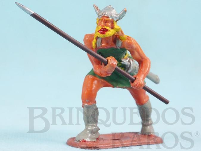Brinquedo antigo Guerreiro Série Os Vikings perfeito estado Lança não original Década de 1960