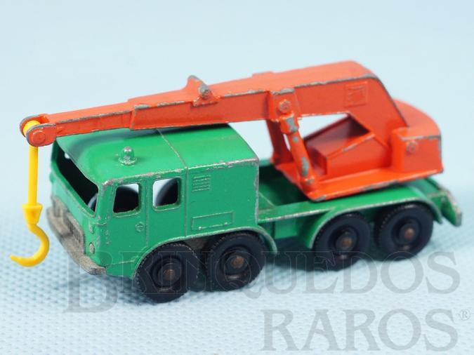 Brinquedo antigo Guindaste Eight Wheel Crane Truck black plastic Regular Wheels