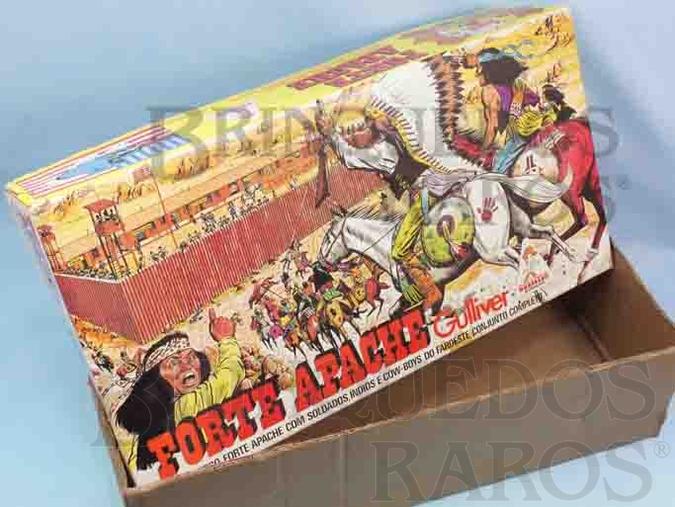 Brinquedo antigo Gulliver Caixa Forte Apache Ano 1980