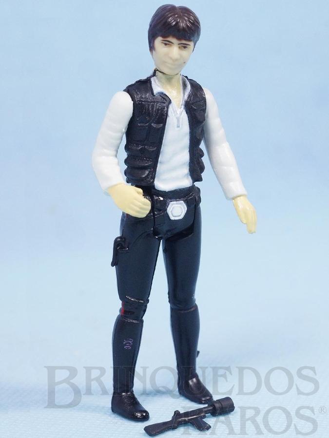 Brinquedo antigo Han Solo Combatente Estelar Mercenário Star Wars Lucas Film perfeito estado completo com Arma Década de 1980
