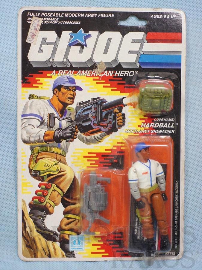 Brinquedo antigo Hardball Multi-Shot Grenadier completo Blister lacrado Ano 1987