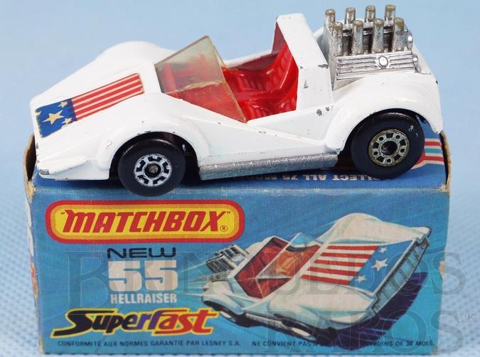 Brinquedo antigo Hellraiser Superfast branco