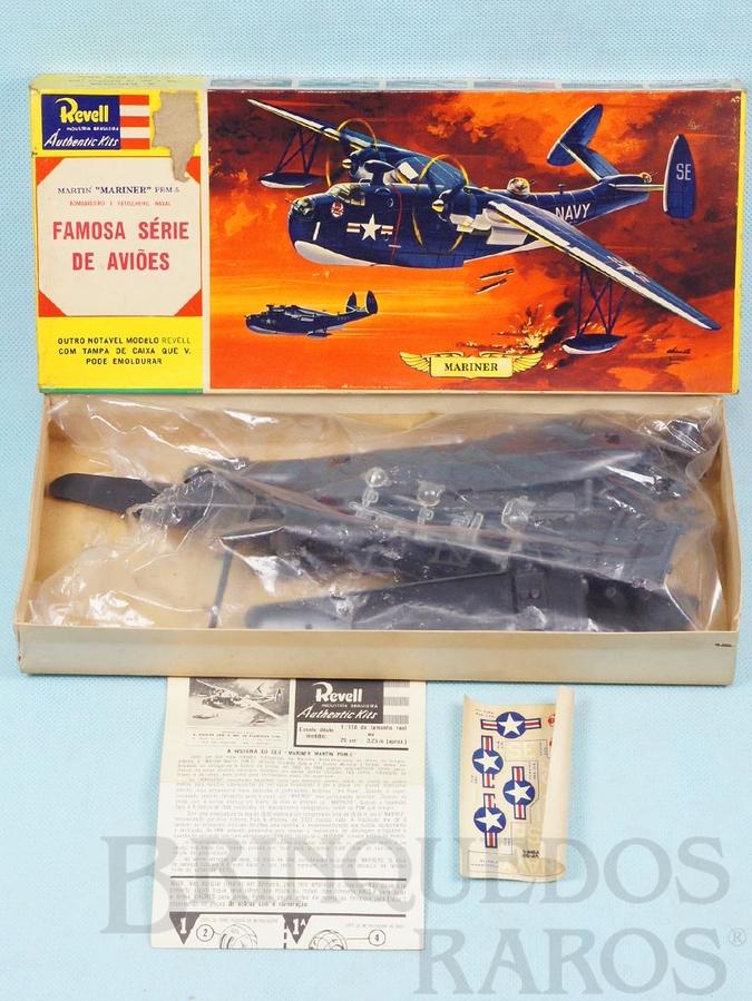 Brinquedo antigo Hidroavião Martin Mariner PBM-5 Caixa Dura Fabricação pré 1964