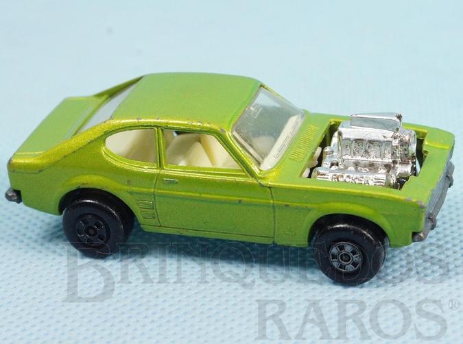 Brinquedo antigo Hot Rocker Rola-Matics verde metálico