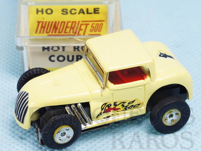 Brinquedo antigo Hot Rod Coupe Série Thunder Jet 500 Model Motoring Década de 1960
