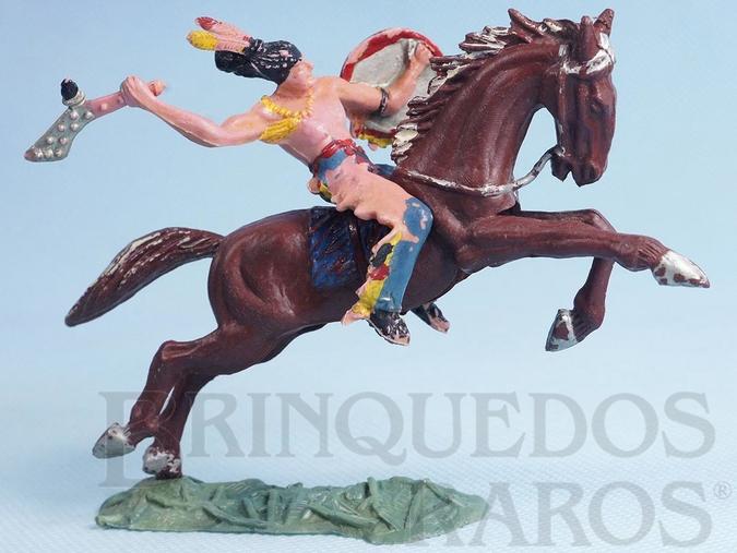 Brinquedo antigo Índio Grande Trovão com Tacape numerado 137 e Cavalo índio numerado 157 Conjunto Original Casablanca Série Caravana Ano 1965 RESERVED***AB***