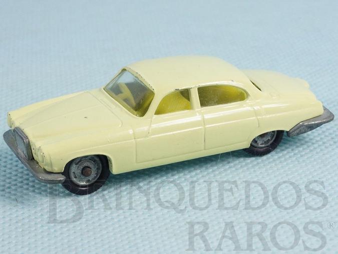 Brinquedo antigo Jaguar MK10 Husky creme Década de 1960