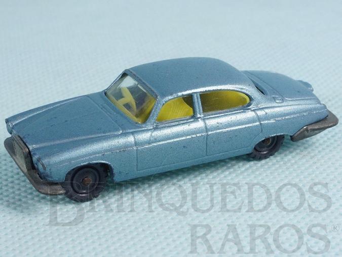 Brinquedo antigo Jaguar MK10 Husky azul metálico Década de 1960