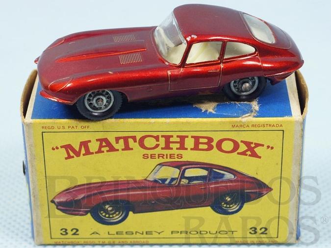Brinquedo antigo Jaguar XK E Type Black Plastic Regular Wheels