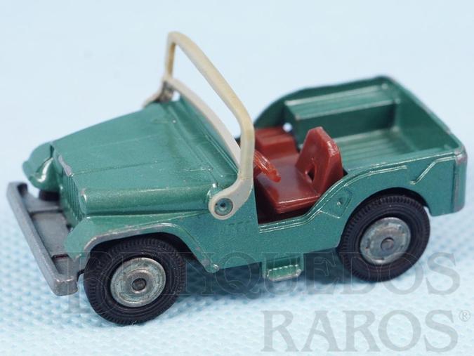Brinquedo antigo Jeep Willys verde Husky falta o motorista