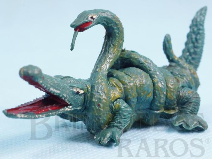 Brinquedo antigo Jibóia e Crocodilo lutando Série Tarzan e Safari na África Ano 1973