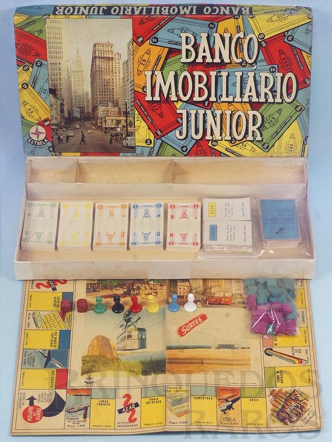 Brinquedo antigo Jogo Banco Imobiliário Junior completo Ano 1963