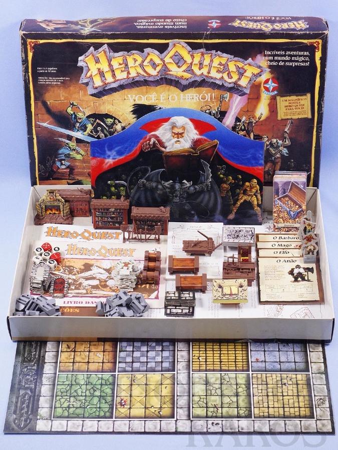 Brinquedo antigo Jogo de RPG Hero Quest Completo Ano 1995