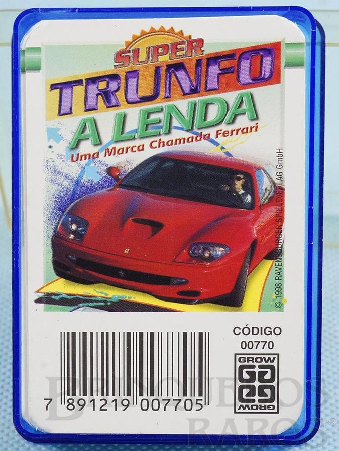 Brinquedo antigo Jogo Super Trunfo A Lenda chamada Ferrari Década de 1980